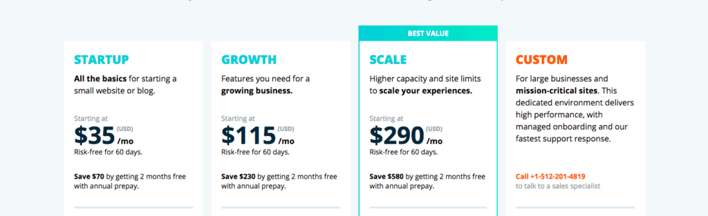 Law firm web hosting - WP Engine - Pricing