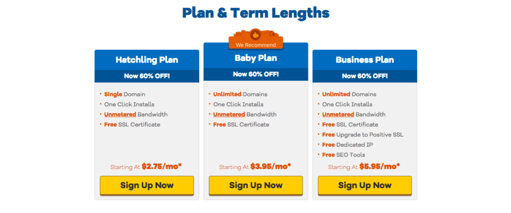 Law Firm Web Hosting - Hostgator - Pricing